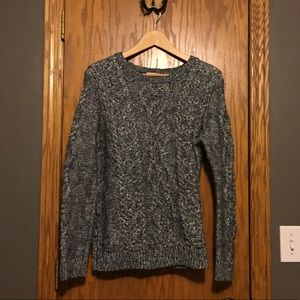 Shimmery Gap cable sweater
